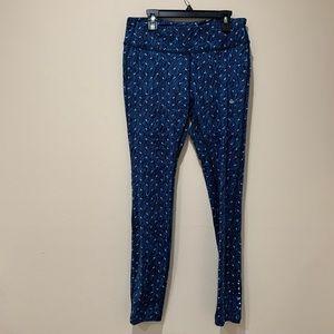 Nike Blue Dri Fit Crop Leggings Size M